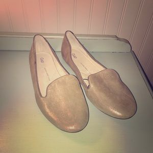 GAP NEW Metallic Loafers -Champagne Gold- Size 9